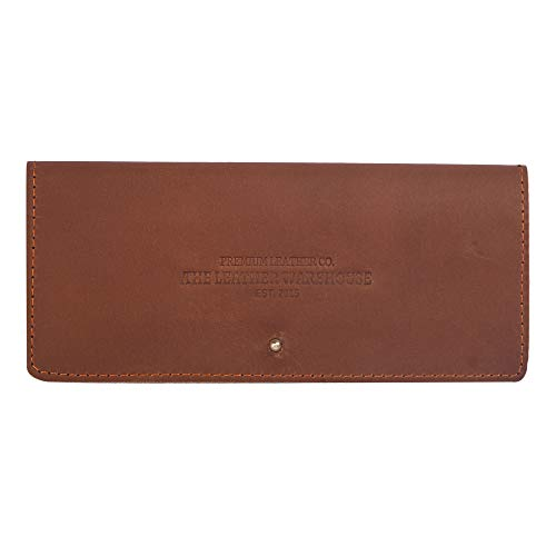 Leather Sunglasses | Eyeglasses case | cover| with Credit Card slots by The Leather Warehouse- Dark ()