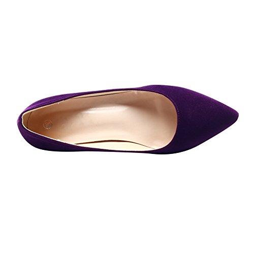 Violett Sandalen Durchgängies mit Keilabsatz fereshte Damen Plateau tTzYaw