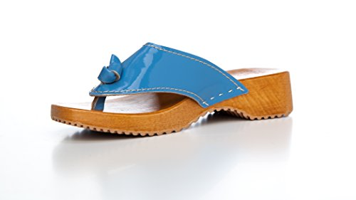 BUR Clogs , Tongs pour femme - Bleu - Hellblau, 39 EU