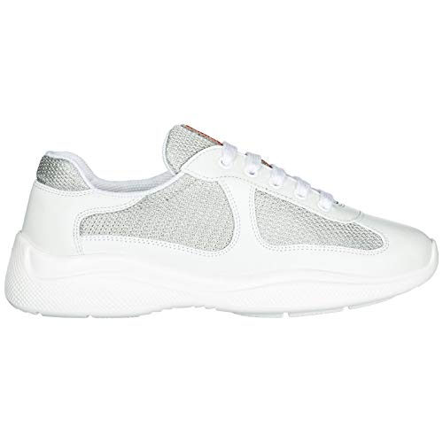 Women's White Cup Sneakers Leather s Prada Trainers Shoes America PUdwd