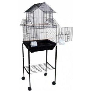 Canary Finch Parakeet Cockatiel LoveBird Bird Cage with Stan