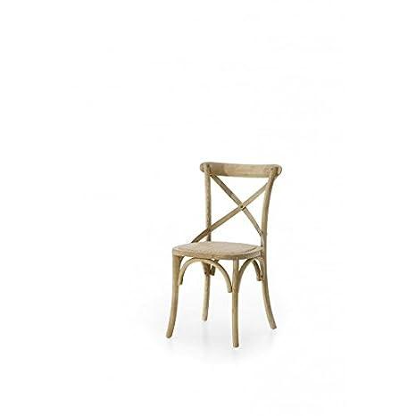 Mobili In Rattan Naturale.Estea Mobili Sedia In Legno Di Olmo Naturale Seduta Rattan