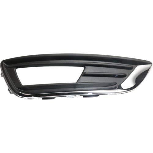 Garage-Pro Fog Light Trim for FORD FOCUS 2015-2018 RH Outer Grille Textured with Chrome Trim Titanium Model Hatchback/Sedan