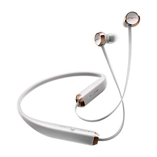 Sol Republic Auriculares inalámbricos con Bluetooth en la oreja hasta 8 horas de música banda para el cuello conveniente controles de micrófono y volumen fáciles de presionar diseño Uyra light gris