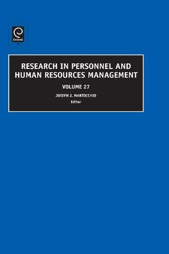 Research in Personnel and Human Resources Management: 27