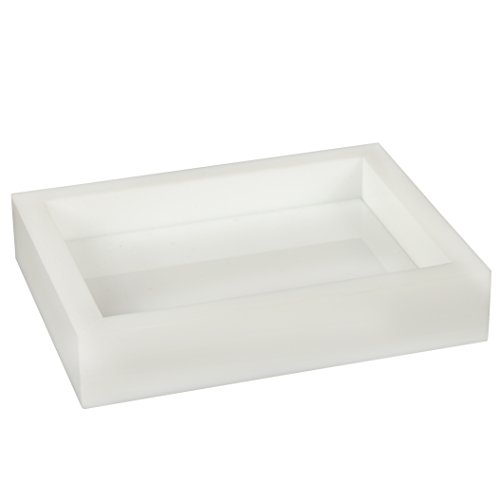 Creative Home 41002 Acrylic Bath Set White Acrylic bar Soap Dish, (Acrylic Soap Dish)
