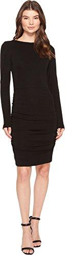 Jersey Dress Nicole Matte Miller - Nicole Miller Women's Strtchy Matte Jersey L/s Dress, Black, L