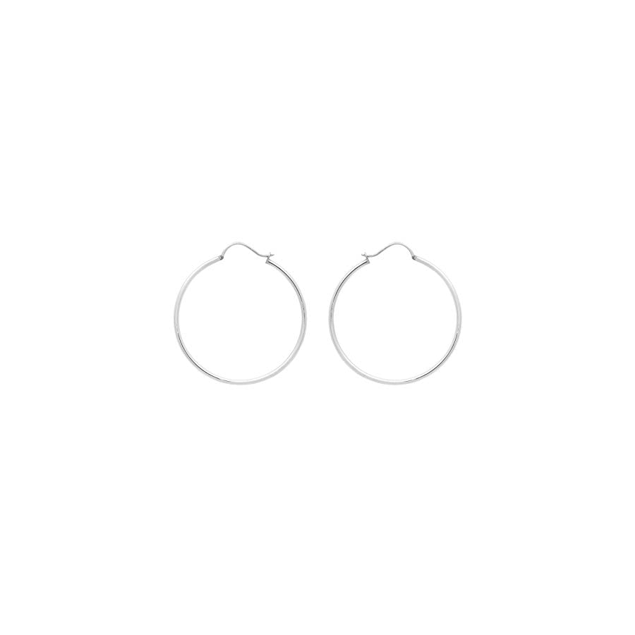 Shine Jewel 92.5 Sterling Silver Silver Hoop Earring For Engagement Party