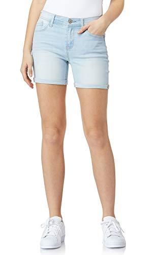 WallFlower Women's Juniors Irresistible Midi Shorts in Belle, 11