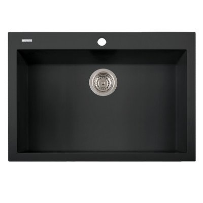 Home Depot Undermount Sinks - LaToscana ON7610 - 70UG One Series Single Basin Undermount Sink, Matt Black