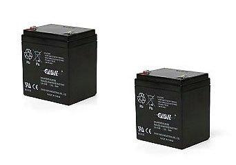 Casil Genuine CA1240 12V 4Ah SLA Alarm Battery (2) by Casil