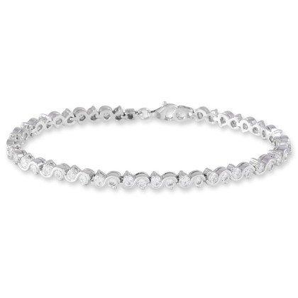 HISTOIRE D'OR - Bracelet Argent et Oxyde - Femme - Argent 925/1000 - Taille Unique