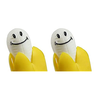 2 Pop Up Bananas - Squeeze to Make Banana Pop Out - Fun Sensory Toy - Funny Gag OT: Industrial & Scientific