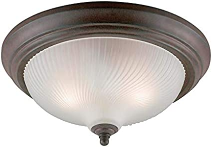 Wht Bx Westinghouse 2 Bulbs Flush Mount Ceiling Fixture A19 13 In