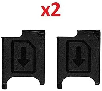 By Walking Slow-2 Piece Micro SIM Card Tray Holder Replacement For Sony Xperia Z2 L50w D6505 D6503