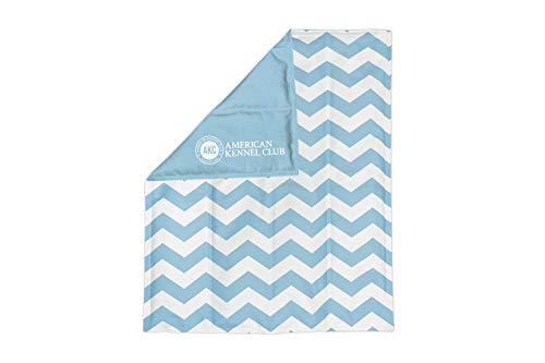 American Kennel Club AKC Large Reversible Chevron Print Cooling Mat Pet Bed, Blue