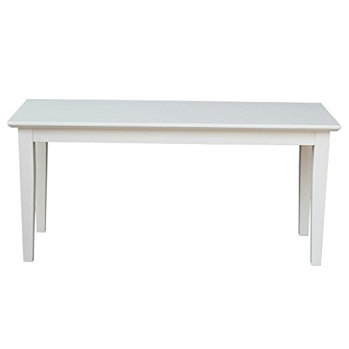 International Concepts BE31-39 Shaker Styled Bench RTA, Linen White (White Indoor Bench)