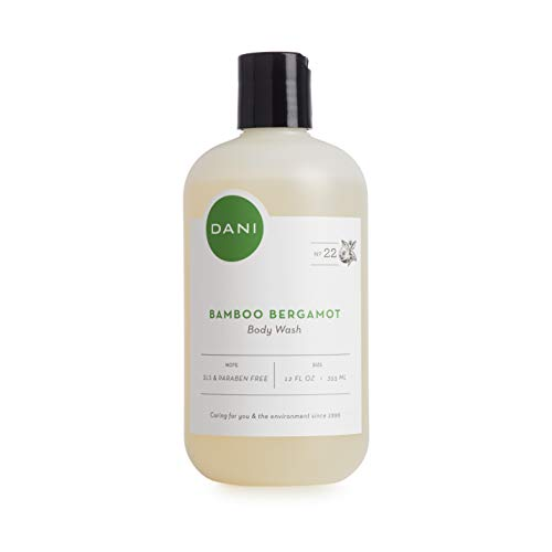 Moisturizing Body Wash by DANI Naturals - Refreshing Bamboo Bergamot Scented - Organic Aloe Vera & Natural Glycerine - Paraben & Sulfate Free Shower Gel - For Men & Women - 12 Ounce Bottle ()
