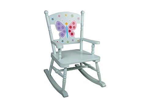 Olive Kids Butterfly Garden Rocking Chair (Kids Butterfly Chairs)