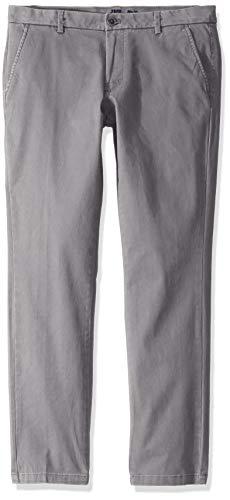 Izod Chino - IZOD Men's Saltwater Stretch Flat Front Slim Fit Chino Pant, Cinder Block, 40W x 30L