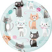 Creative Converting 328595 Purr-Fect Party 96-Count Sturdy Style Small/Dessert Paper -
