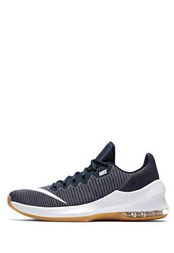NIKE Men's Air Max Infuriate 2 Low Light Carbon/White-Dark Obsidian Basketball Shoes (8 D US) ()