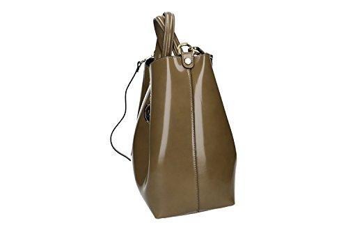 952b286616042 Tasche damen mit schultergurt PIERRE CARDIN taupe leder Made in Italy VN863  ...