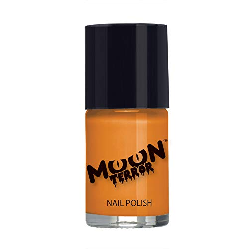 Moon Terror - Halloween Nail Polish - 0.47fl oz - For spooky halloween nails. Perfect for vampire, ghost, skeleton, witch, pumpkin, monster etc - Pumpkin Orange ()