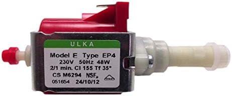 Microbomba eléctrica ULKA EP4 48 W 20 bar bomba de agua para cafeteras: Amazon.es: Hogar
