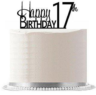 CakeSupplyShop ItemAE 120 Happy 17th Birthday Agemilestone Elegant