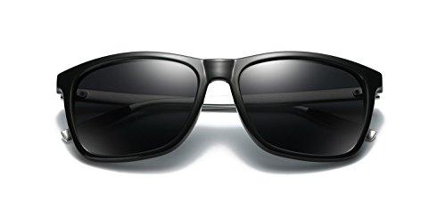 TOOSBUY Aluminum Magnesium Men's Sunglasses Polarized Coating Mirror Sun Glasses Male Eyewear Accessories Black/Black