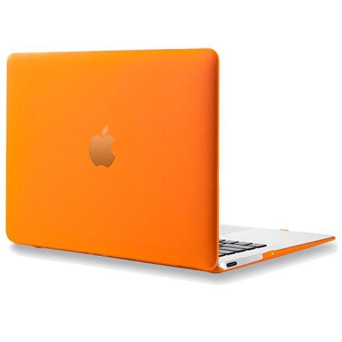 LEIMI ® - Retina 12-inch Rubberized Hard Case for MacBook 12 (Model: A1534 Release 2015   MF855LL/A, MF865LL/A, MK4M2LL/A, MK4N2LL/A, MJY32LL/A, MJY42LL/A)-Orange