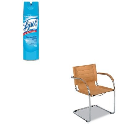 KITRAC04675EASAF3457CM - Value Kit - Safco Flaunt Series Guest Chair (SAF3457CM) and Professional LYSOL Brand Disinfectant Spray (RAC04675EA)