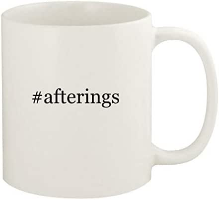 #afterings - 11oz Hashtag Ceramic White Coffee Mug Cup, White