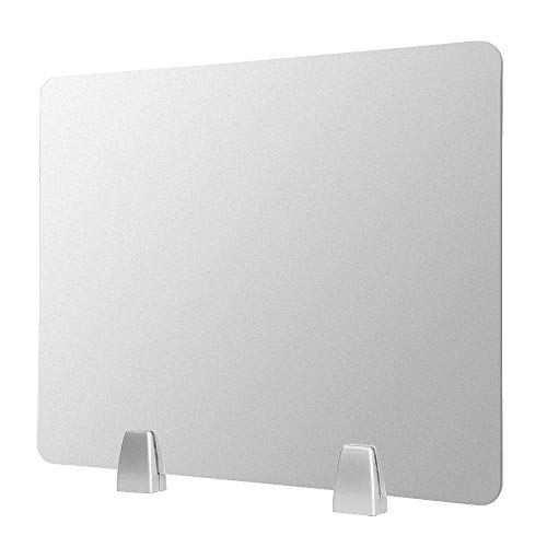 """Owfeel Frosted Desk Divider Office Partition Privacy Desk Panel with 2pcs Desk Partition Clip for Student Call Centers/Offices/braries/Classrooms/Library Acrylic Privacy Board (20"""" L×16"""" W) by Owfeel (Image #2)"""