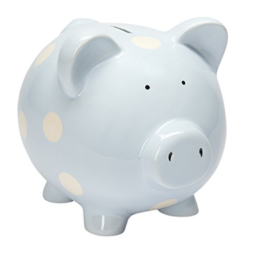 Traditional Piggy Bank - Elegant Baby Classic Piggy Bank, Blue
