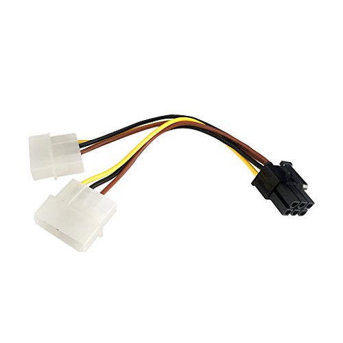 9daysminer 2-pack Dual 4 Pin Molex IDE to 6 Pin PCI Express Y Molex IDE Power Cable Adapter Connector (Male to Female) by 9daysminer (Image #7)