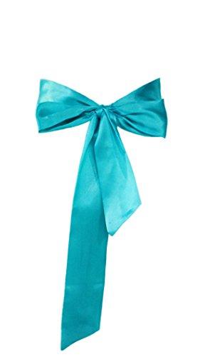 Dobelove Solid Color Satin Belt for Special Occasion Dress Bridal Sash (Turquoise Sash)