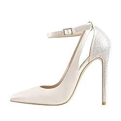 Women's Pointed Toe Rhinestones Stiletto Heel