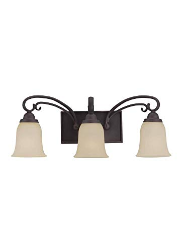 Sea Gull Lighting 44123EN3-820 Three Light Wall/Bath, Chestnut Bronze
