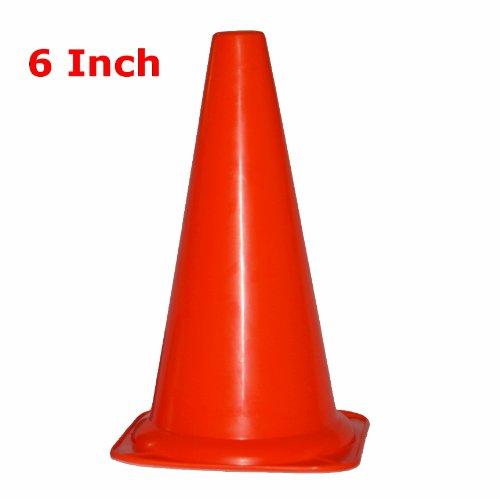 "Workoutz 6"" Inch Orange Agility Sports Cone Safety Field Mar"