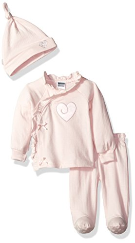 Kushies Baby Girls Classics Take Me Home Set Heart, Pink, 1m (Baby Clothes Kushies)