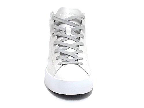 Crime scarpa uomo, 11121, sneakers pelle bianco E7102