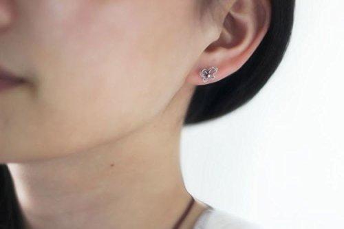 KENHOI Beauty s925 sterling silver thai silver butterfly earrings earings dangler eardrop pierced by KENHOI Beauty