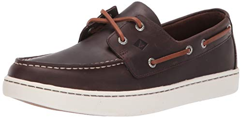 SPERRY Men's Cup 2-Eye Leather Boat Shoe, Brown, 11.5 Medium US