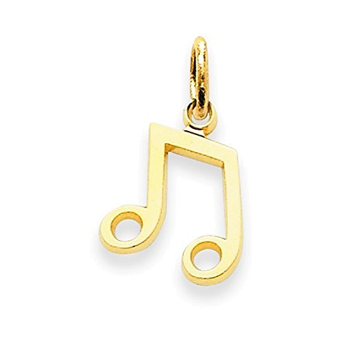 Jewelry Adviser Charms 14k Musical Note Charm