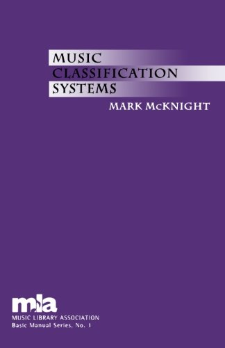 Music Classification Systems (Music Library Association Basic Manual Series) by Brand: Scarecrow Press