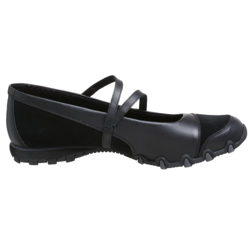 Flat Slip M Jane Black Nero Women's On Up Bikers Step 6 Mary Skechers US wWnxqBaZFC