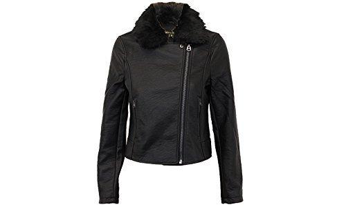8d2662e03 Ladies Biker Jacket Brave Soul Womens Coat PU PVC Leather Look Fur ...