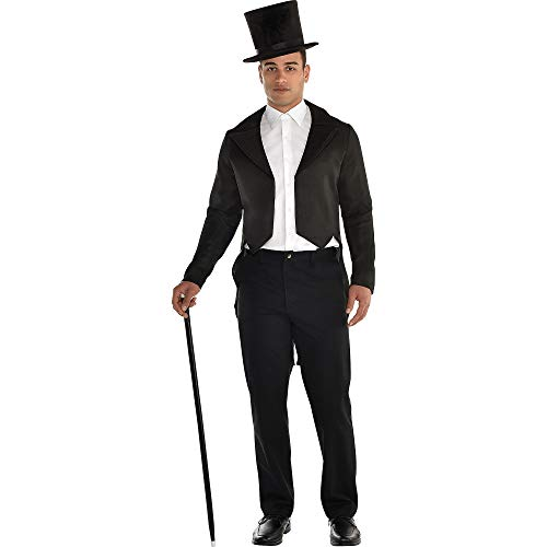 Amscan Black Tailcoat Halloween Costume Accessory for Men,